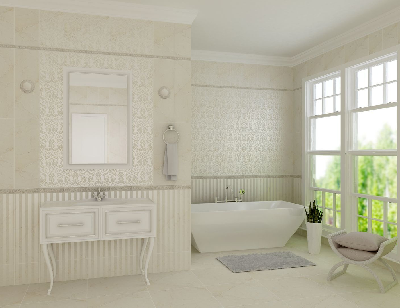 Antico beige decor 02 250х750 (1-й сорт)